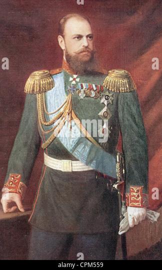 War museum brussels portrait czar tsar alexander 1 1801 1825 - stock image