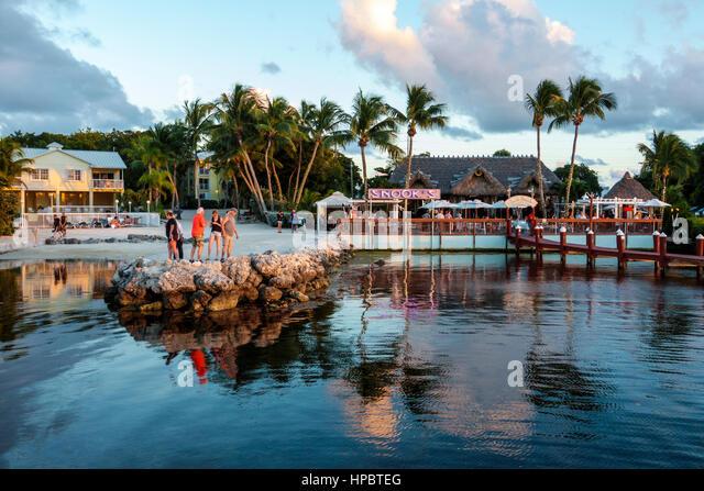 Snook S Bayside Restaurant Grand Tiki Key Largo Fl