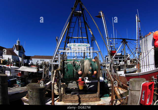 Fish net and trawler stock photos fish net and trawler for Fishing boats nyc