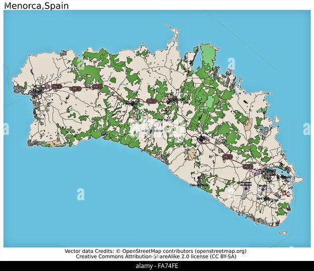 Map Menorca Stock Photos & Map Menorca Stock Images - Alamy