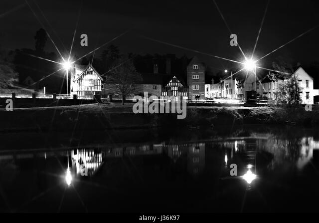 Bewdley at night Beales Corner. - Stock Image : beales lighting - azcodes.com