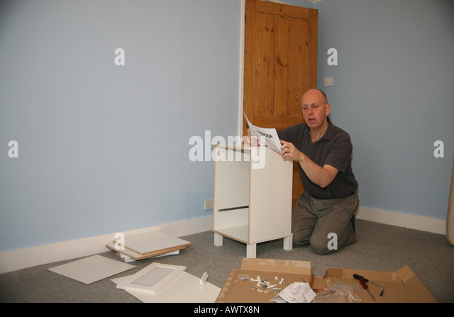 Flatpack instructions stock photos flatpack instructions for Furniture you put together