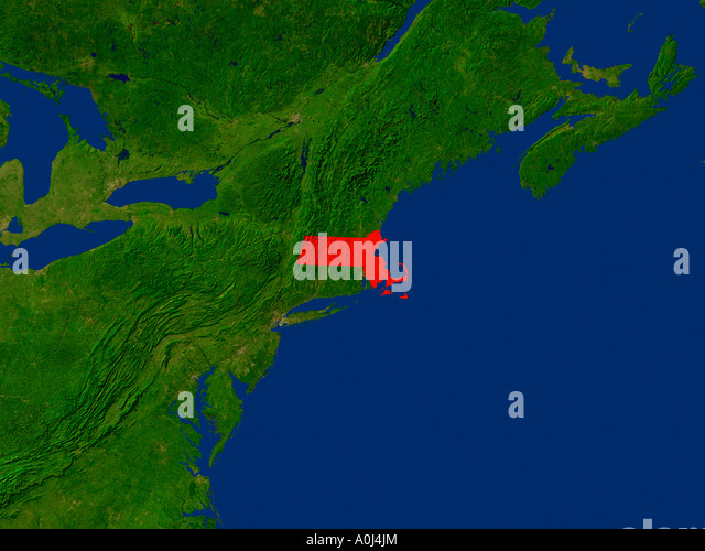 Map Satellite Geography Massachusetts Stock Photos Map Satellite