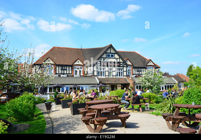 The Orchard pub   restaurant  Ickenham Road  Ruislip  London Borough of  Hillingdon. Ruislip High Street Stock Photos   Ruislip High Street Stock