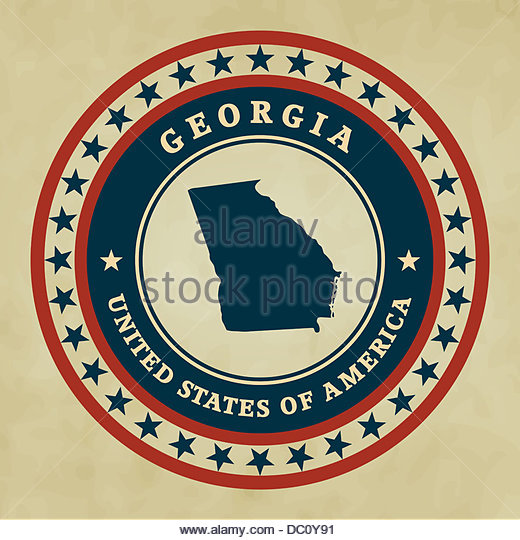 Map Of Georgia Stock Photos Map Of Georgia Stock Images Alamy - Georgia map label