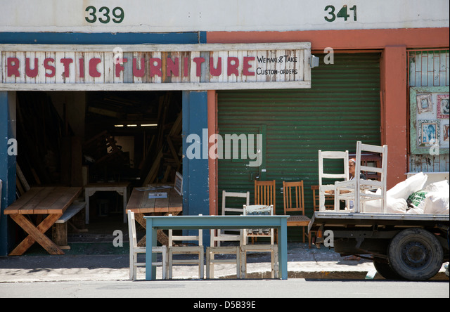 Nice Rustic Furniture Store In Woodstock   Cape Town   South Africa   Stock Image