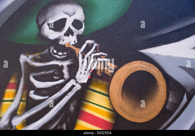 Tesuque stock photos tesuque stock images alamy for Dia de los muertos mural