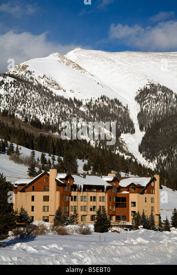 Copper Mountain Ski Resort, Rocky Mountains, Colorado, USA, North America    Stock