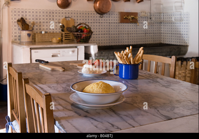 Kitchen Table With Food kitchen table stock photos & kitchen table stock images - alamy