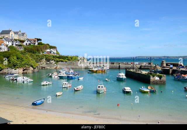 Newquay harbour, Cornwall - Stock Image