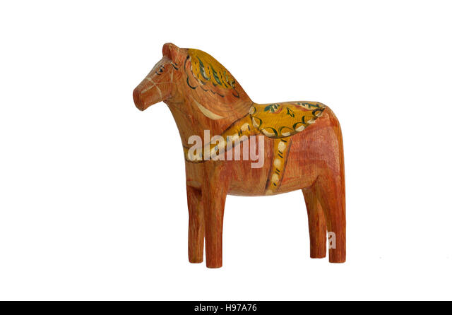this old and charming dala horse dalecarlian horse has nearly the same form as