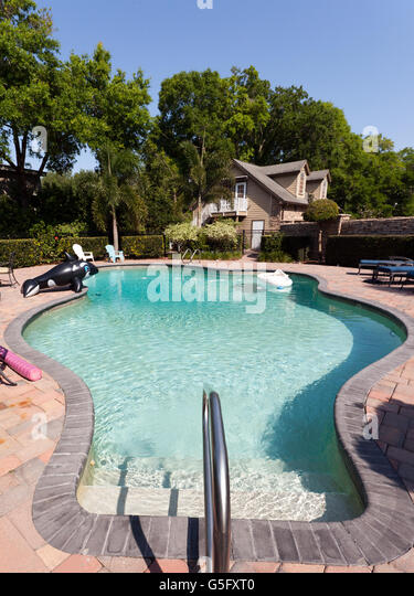 Private Swimming Pool Stock Photos Private Swimming Pool