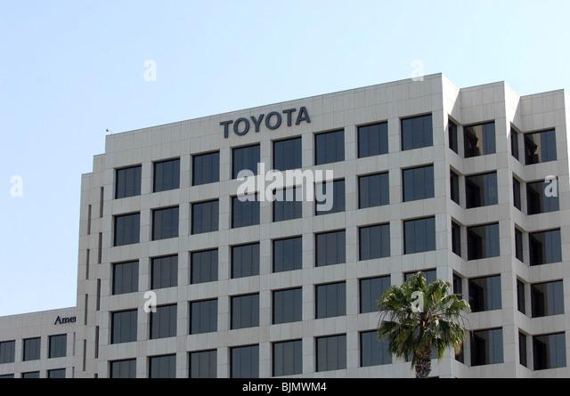 Toyota Motor Company Office Building In Orange County, California.   Stock  Image