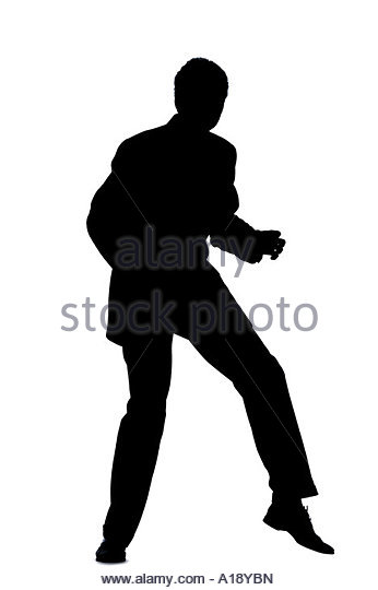 Running Man In Suit Silhouette Running Shoes Business...
