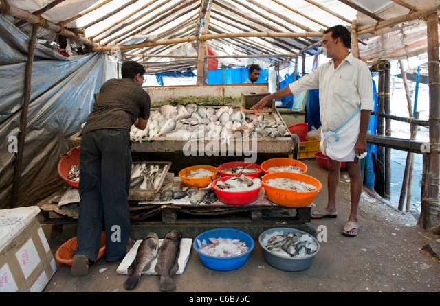Fort cochin fish market stock photos fort cochin fish for Chinese fish market near me