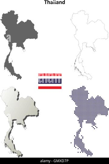Thailand Map Stock Vector Images Alamy - Thailand blank map