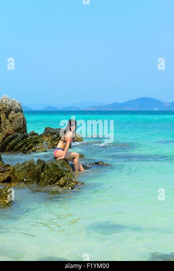 Phuket beach bikini stock photos phuket beach bikini for Best beach vacations in march