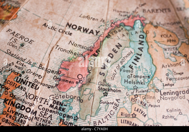Globe Map Arctic Circle Stock Photos  Globe Map Arctic Circle