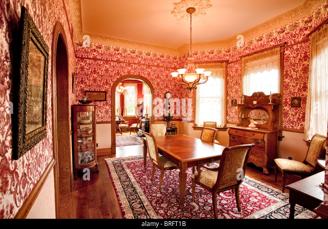 victorian dining room stock photos & victorian dining room stock