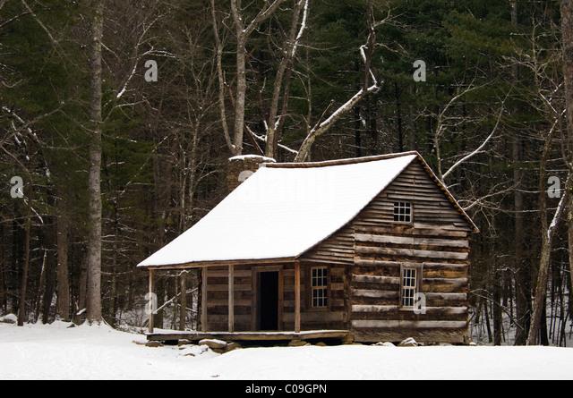 Woods Cabin Snow Stock Photos Woods Cabin Snow Stock