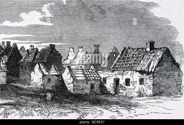 IRISH VILLAGE Abandoned After The Great Potato Famine Of Mid 19th Century