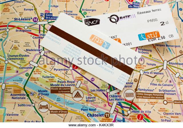 Paris Metro Tickets Stock Photos  Paris Metro Tickets Stock