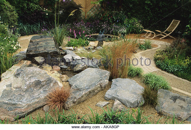 Feng shui garden design pamela stock photos feng shui for Feng shui garden designs