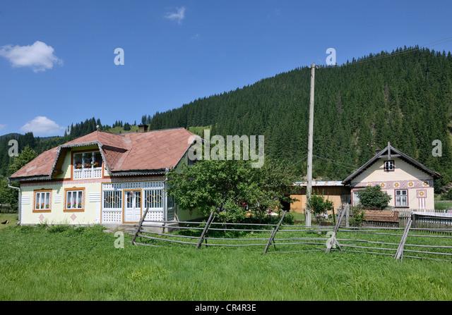 Suceava stock photos suceava stock images alamy - The painted houses of ciocanesti ...