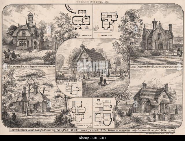 Rayners Loudwater Norbury Booths Hughenden Park Wooburn House Hazlemere 1875