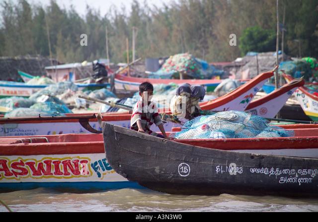 India village child fishing stock photos india village for Circle fishing boat