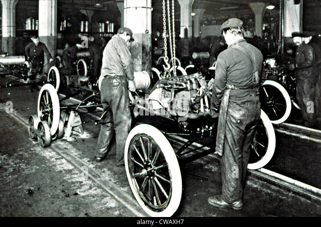 FORD MOTOR COMPANY In The Early 1900S Showing Assembly Line Courtesy