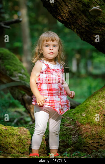 Lost Little Girl In Forest Stock Photos & Lost Little Girl ...