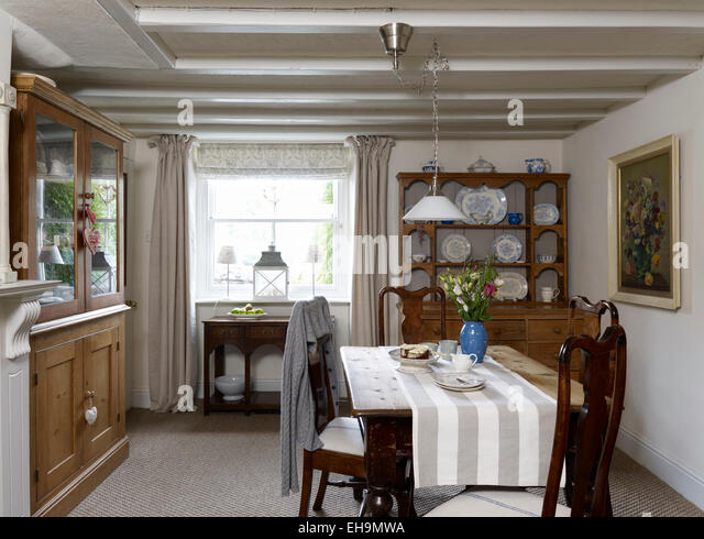 Dining Room With Wooden Table Chairs And Welsh Dresser Residential House Belper Lane