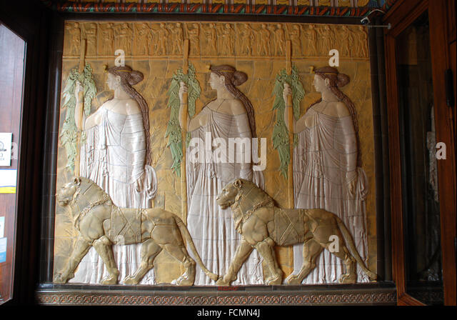 Art Deco Imperial Hotel Entrance Lobby Wall Mural   Stock Image