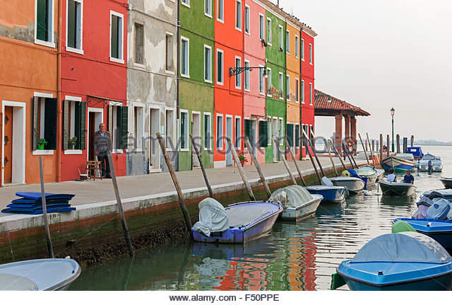 Aerial view burano island venice stock photos aerial Small islands around the world