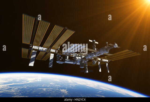 International space station stock photos international for Space station usa