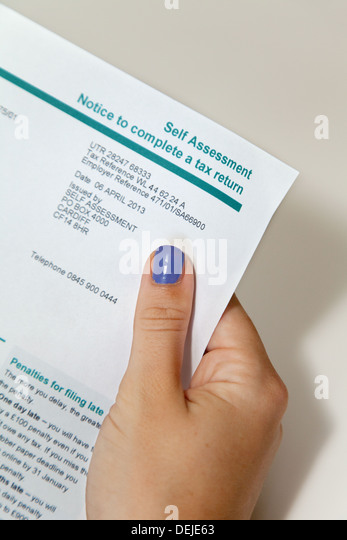 Self Assessment Tax Stock Photos & Self Assessment Tax Stock