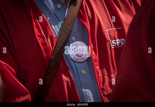 'Time for Matin'-Final campaign rallies for the SPD in the North Rhine-Westphalia state elections in Duisburg, - Stock Image