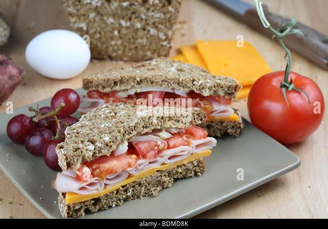 Deli Sandwich With Turkey Stock Photos & Deli Sandwich With Turkey ...