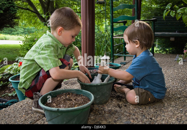 5 year old boys and play stock photos 5 year old boys for Soil 2 year pgdm
