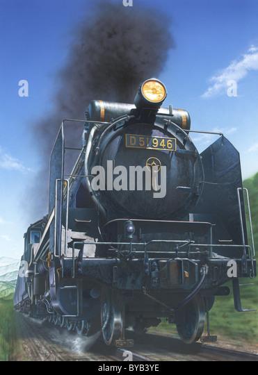 Illustration Steam Locomotive Stock Photos & Illustration ...