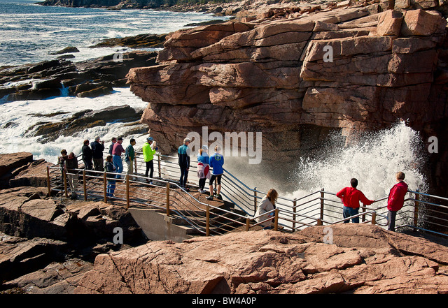 Np stock photos np stock images alamy for Thunder hole acadia