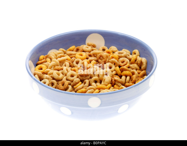 Bowl Breakfast Cheerios Milk Stock Photos & Bowl Breakfast ...