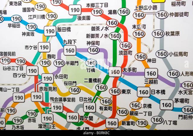 Tokyo Metro Map Stock Photos Tokyo Metro Map Stock Images Alamy - Japan metro map