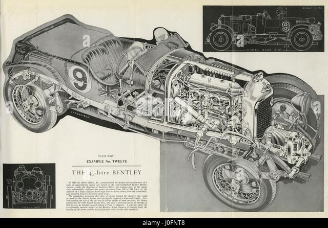 The Litre Bentley Drawing With A Cut Out Section Showing The Engine J Fnt on 2005 Bentley Continental Gt Radiator
