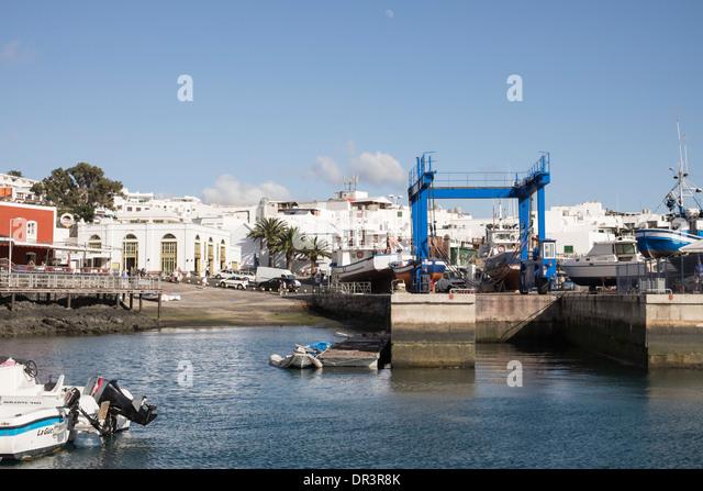 Lanzarote quay quayside docks stock photos lanzarote quay quayside docks stock images alamy - Port del carmen lanzarote ...