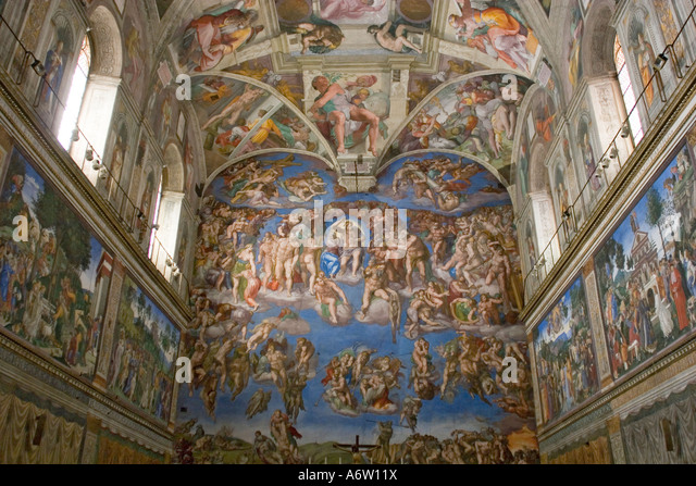 michelangelos fresco the last judgment essay Compare and contrast michelangelo's sistine chapel ceiling fresco with his last judgment although both paintings contain many figures, how is the organization different.