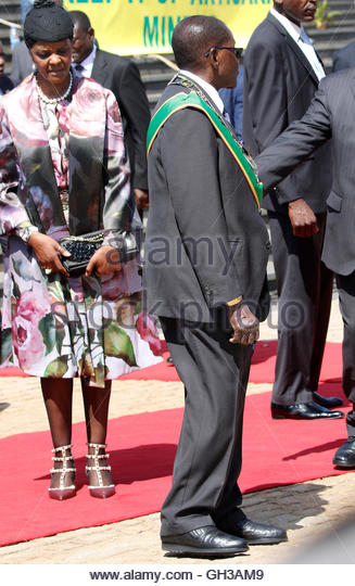 Zimbabwe President Mugabe Wife Grace Stock Photos