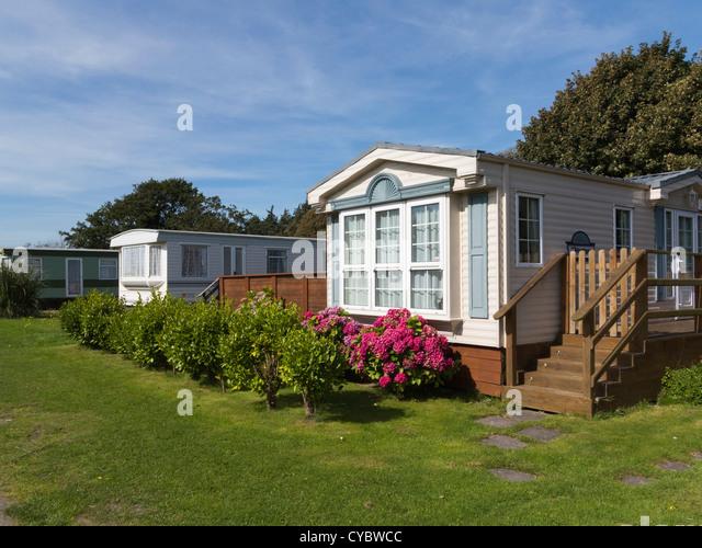 Luxury Mobile Homes Trailers On A Caravan Park