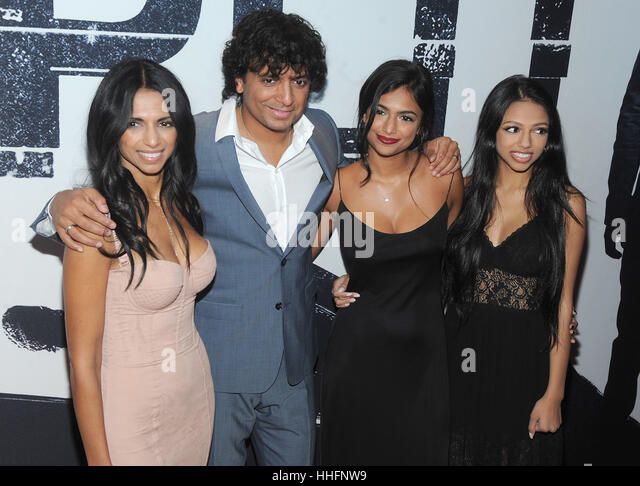 M Night Shyamalan Family Bhavna Stock Photos &a...